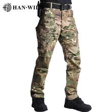 Camouflage Pants Men Elastic Waterproof Army Tactical Military Hiking Trekking Jogger Casual Trousers Sweatpants Streetwear