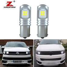 2pc x qualidade superior p21w ba15s canbus branco led drl luz de circulação diurna para vw transporter t5 t5.1 t6 (2010-2019)