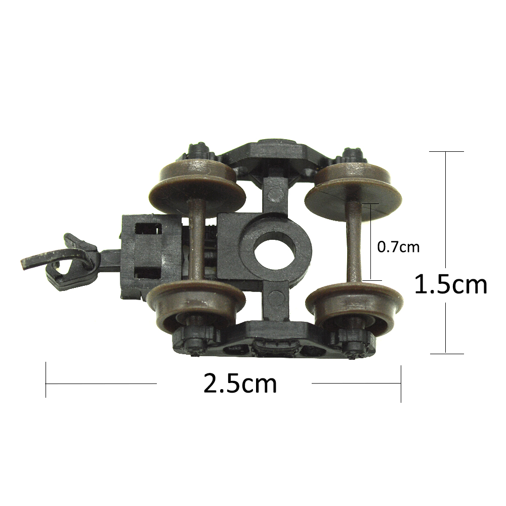 2 N-scale Bogie Simulation Train Model Toy Accessories 1/150 Train Model Wheel Toy Sand Table Making Architectural Scene Making