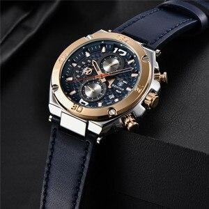 Image 3 - Watch Men BENYAR Fashion Sport Quartz Clock Mens Watches Top Brand Luxury Business Waterproof Leather Watches Relogio Masculino