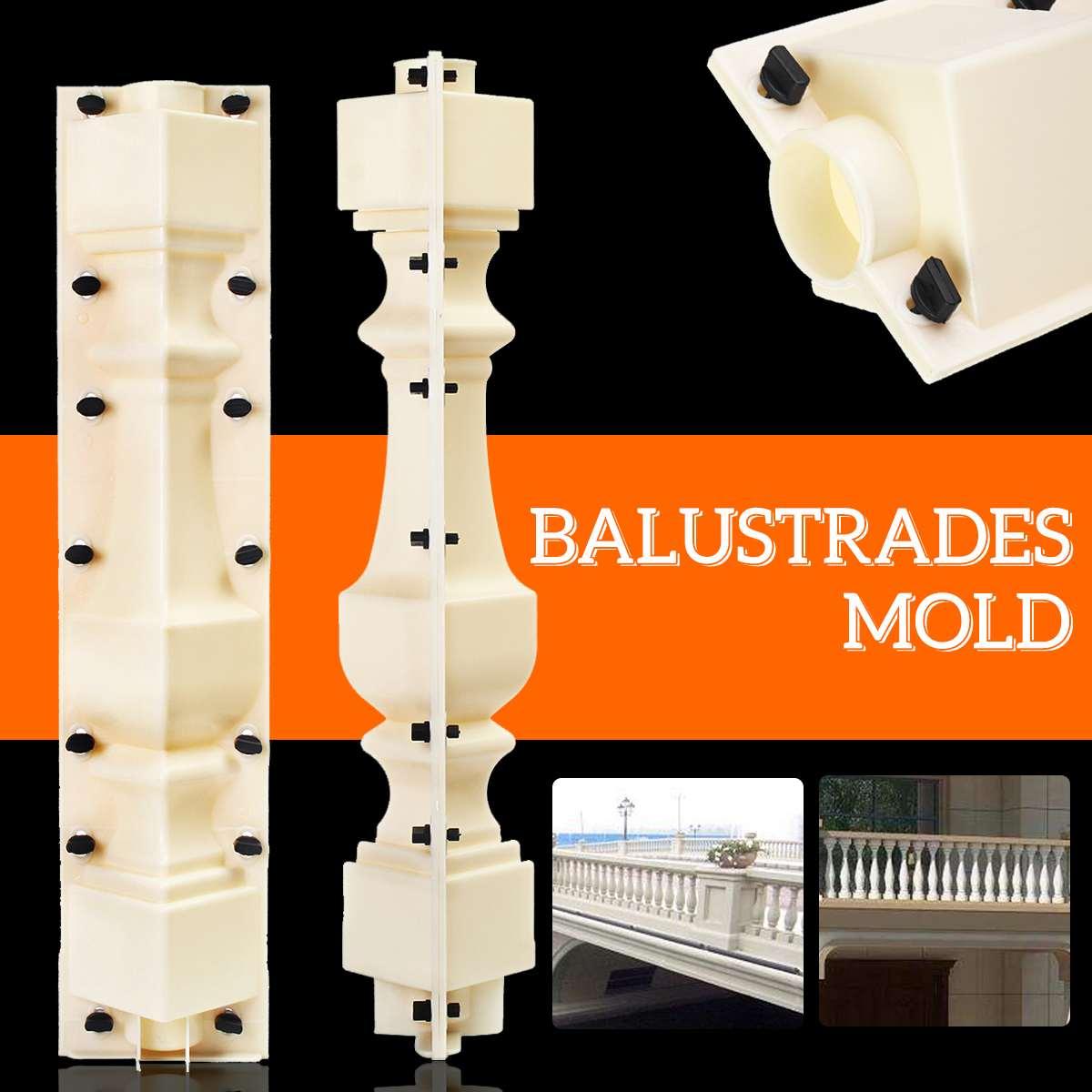 2pcs 70cm Concrete Cement Mold Garden Balustrades Balcony Fence Roman Column Mold Railing Plaster Mould Paving Molds Pool DIY