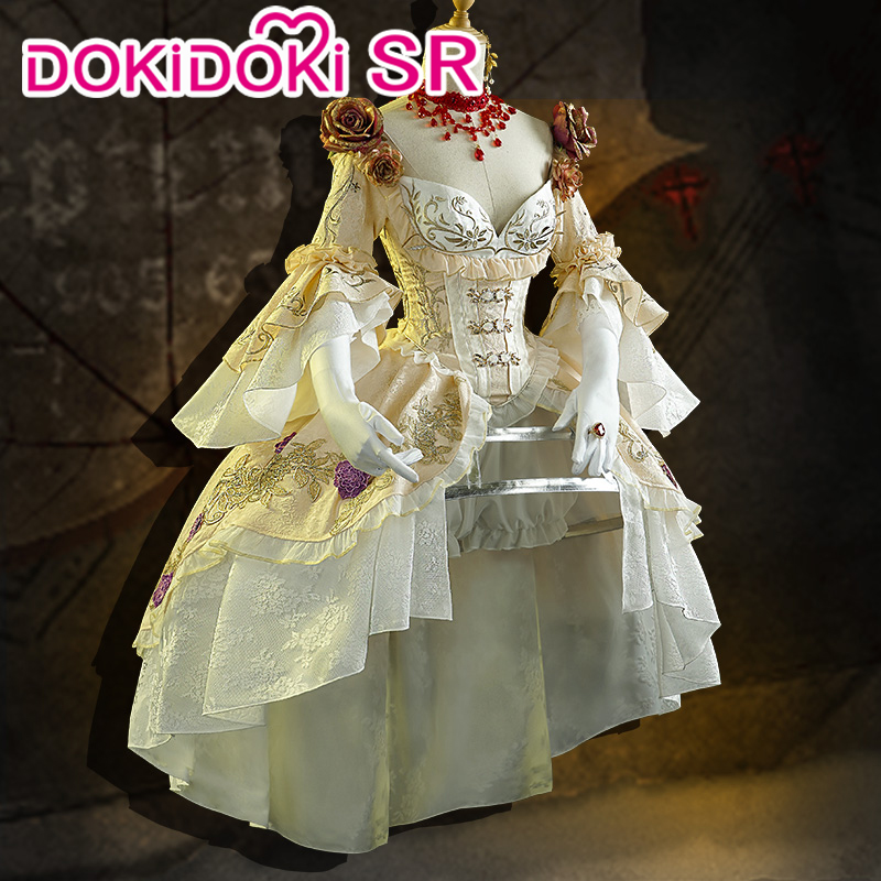 DokiDoki-SR Game Identity V Mrs. Red CosplayCostume Bloody Queen Red Lady Costume Women Dress Cosplay Game Identity V