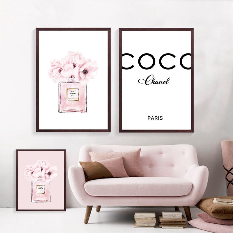 Perfume Fashion Canvas Art Prints Home Room Decor