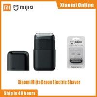 Xiaomi Mijia Braun Elektrische Rasierer 5603 Tragbare Mini Flex Rasiermesser 2 Kopf Rasieren Wasserdicht Waschbar Bart Trimmer trimer Cutter