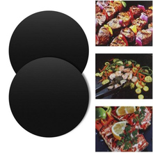 Round BBQ Mat Grill Barbecue Non stick Heat Resistant Pan Reusable Baking Party Pads Mats For Bbq Kitchen Cooking Matt