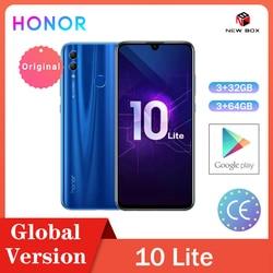 Huawei Honor 10 Lite 3 ГБ 32 ГБ глобальная версия Android 9,0 Восьмиядерный 6,21 дюймов 2340*1080P 24MP камера Google Play мобильный телефон