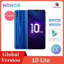 Huawei honor 10 lite 3gb 32gb/128gb global versionandroid 9.0 octa núcleo 6.21 polegada 2340*1080p 24mp câmera google play celular