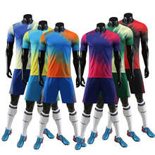 New Adult Football Jerseys Mens Short Sleeve Soccer Sets Tracksuit Team Training Set Uniform Suits Boys