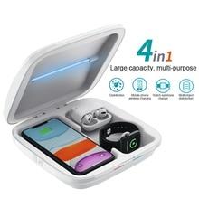 Kablosuz şarj cihazı UV sterilizatör dezenfeksiyon kutusu çok fonksiyonlu sterilizasyon kutusu şarj iPhone XS için Airpods için iWatch için