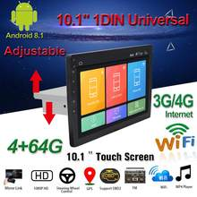 "10.1 ""Mobil Multimedia Player 1Din/2Din Stereo untuk Android 8.1 dengan Naik Turun Layar Adjustable WIFI Bluetooth GPS NAV Radio Player(China)"
