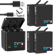 Оригинальные аккумуляторы probty для GoPro hero 7 hero 6 hero 5 черного цвета или тройное зарядное устройство для GoPro hero 7 черного цвета аксессуары для аккумуляторов