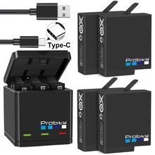 Probty dorigine pour GoPro Hero 7 hero 6 hero 5 Batteries noires ou chargeur Triple pour GoPro Hero7 accessoires de batterie noir