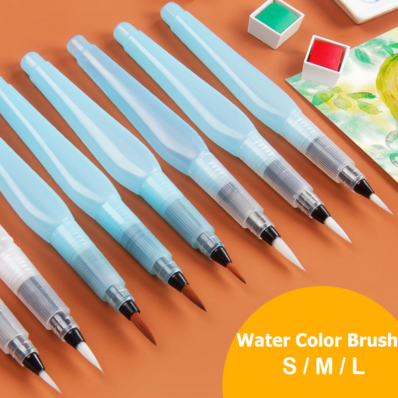 Dropshipping Students Portable Paint Brush Water Color Brush Pencil Soft Watercolor Brush Pen For Beginner Painting Drawing Art