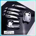 Хромированная Крышка для дверных ручек автомобиля  крышка для Audi A4 B8/Q3/Q5/S4/ A5/ S5/ RS5  отделка для стайлинга автомобиля  АБС-пластик  пластмассов...