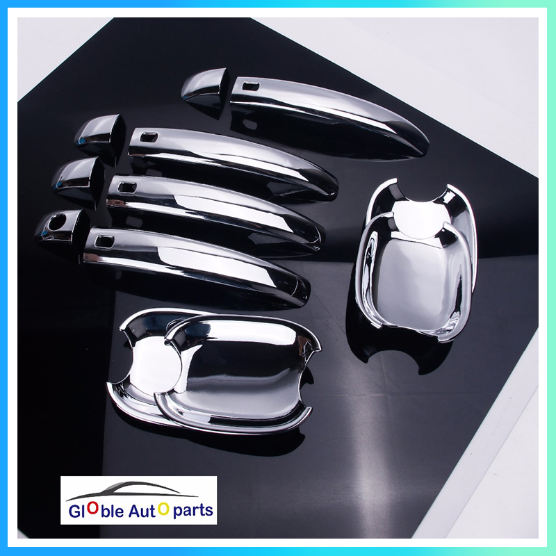 Chrome Car Door Handle Bowl Cover For Audi A4 B8 Q3 Q5 S4  A5  S5  RS5  Car Styling Trim ABS Plastics Accessories DQ-046
