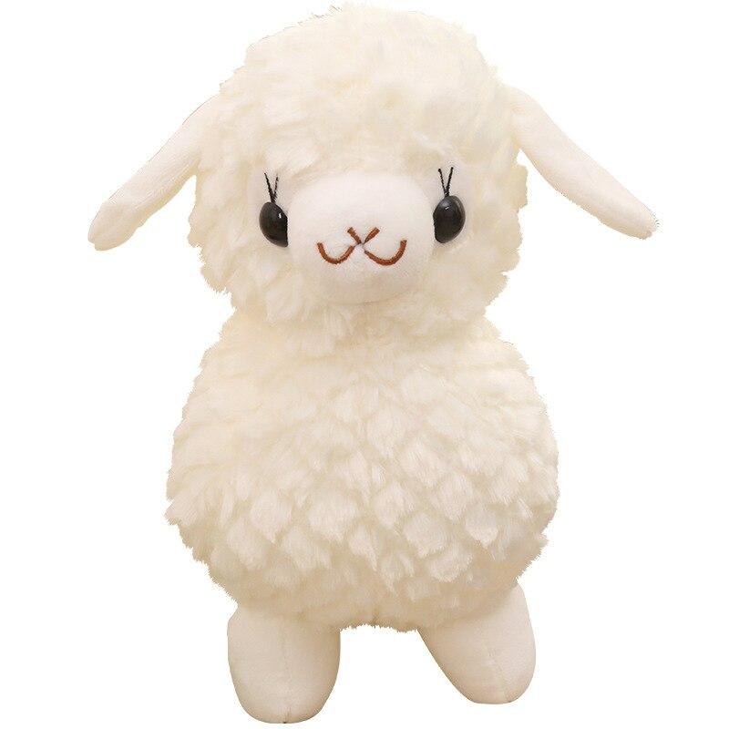 20cm Kawaii Angel Alpaca Soft Cotton Stuffed Plush Toy Doll Cute Llama Sheep Animals Toys For Baby Kids Birthday Christmas Gifts