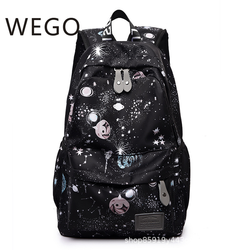 Galaxy bag star pattern backpack new nylon casual school student fashion college computer backpack female