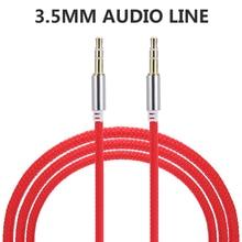 Высококачественный автомобильный аудиоразъем 1 м, штекер штекер, AUX кабель 3,5 мм, Аудиокабели «штекер штекер» для наушников, MP3