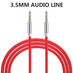 Image 1 - Conector de Audio macho a macho para coche de alta calidad 1M Cable auxiliar 3,5 Mm Cables de Audio macho a macho para auriculares MP3