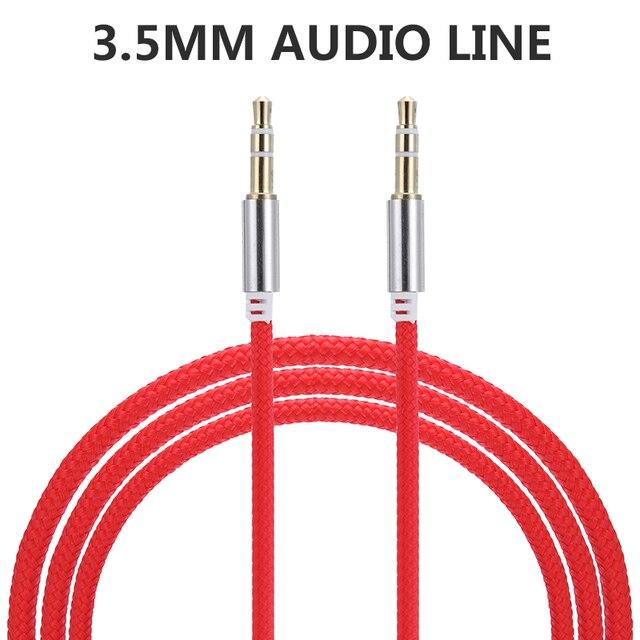 Conector de Audio macho a macho para coche de alta calidad 1M Cable auxiliar 3,5 Mm Cables de Audio macho a macho para auriculares MP3