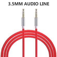 Haute qualité 1M voiture Audio prise mâle à mâle AUX câble 3.5 Mm Audio mâle à mâle câbles pour casque MP3