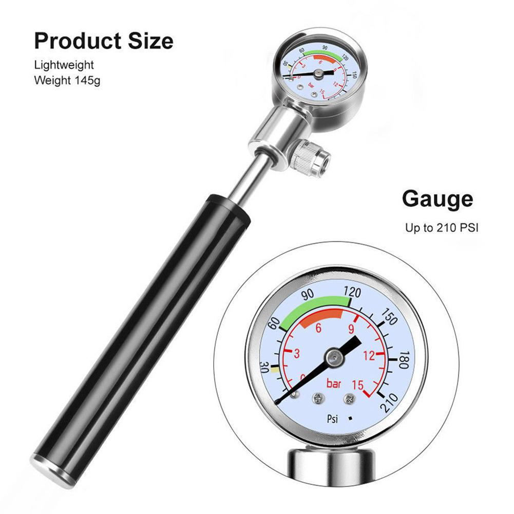 15 bar High Pressure Meter Shock Bicycle Pump Gauge Hand Bike Air Supply Inflator 7 76 0 83in in Bicycle Pumps from Sports Entertainment