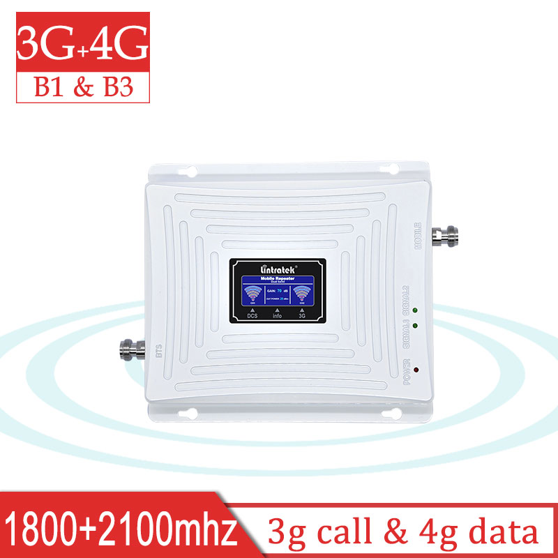 Lintratek Repeater 3g 4g 1800 2100 Dual Band 4G LTE DCS 1800mhz 3G 2100mhz UMTS Cellular Signal Booster Cell Phone Amplifier #8