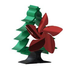 European style simple and portable Christmas tree fireplace fan 5-blade fan Energy Saving driven by thermal energy