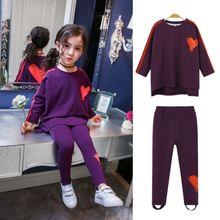 Стрейчевая одежда с длинными рукавами для девочек; Комплект
