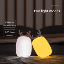 Многофункциональный светодиодный ночник с зарядкой в виде оленя