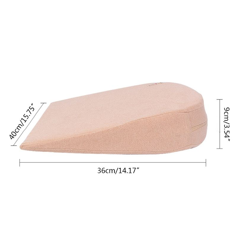 1 Pc Baby Wedge Pillow Made of Memory Foam with 10 degrees Tilt and the Thin Bottom 2