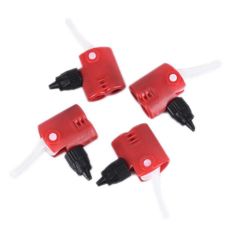 Fietspomp Nozzle Slang Adapter Dubbele Hoofd Pompen Onderdelen Accessoires F/V Service A/V Schrader/Presta valve Converter Fiets