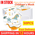 Быстрая доставка с персонажами из мультфильмов детская одноразовая Защитная маска 3 Слои нетканый ребенка фильтр гигиена полости рта, утеп...