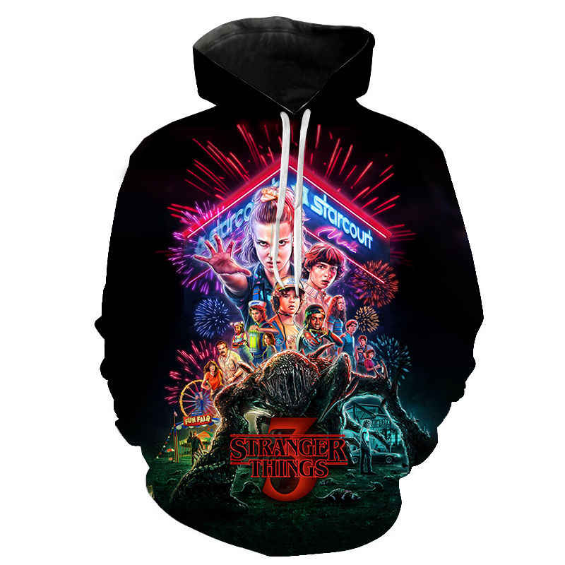 2020 Men Women Children Hoodie Stranger Things Season 3 Sweatshirt Tv Series Stranger Things 3D Printed Hoodies Pullover Clothes