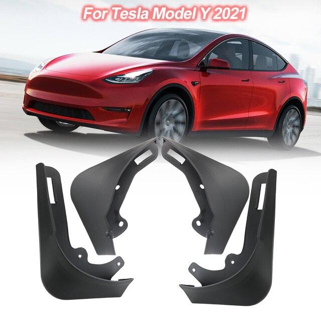 Guardabarros de coche de fibra de carbono, accesorio de repuesto sin Error para Tesla modelo Y 2021, 4 Uds.