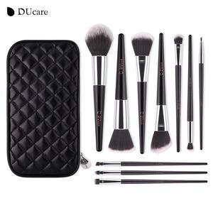 Image 2 - DUcareแปรงแต่งหน้า10PcsคุณภาพสูงชุดแปรงProfessional Make Upแปรงสีดำกระเป๋าความงามEssentialแปรง