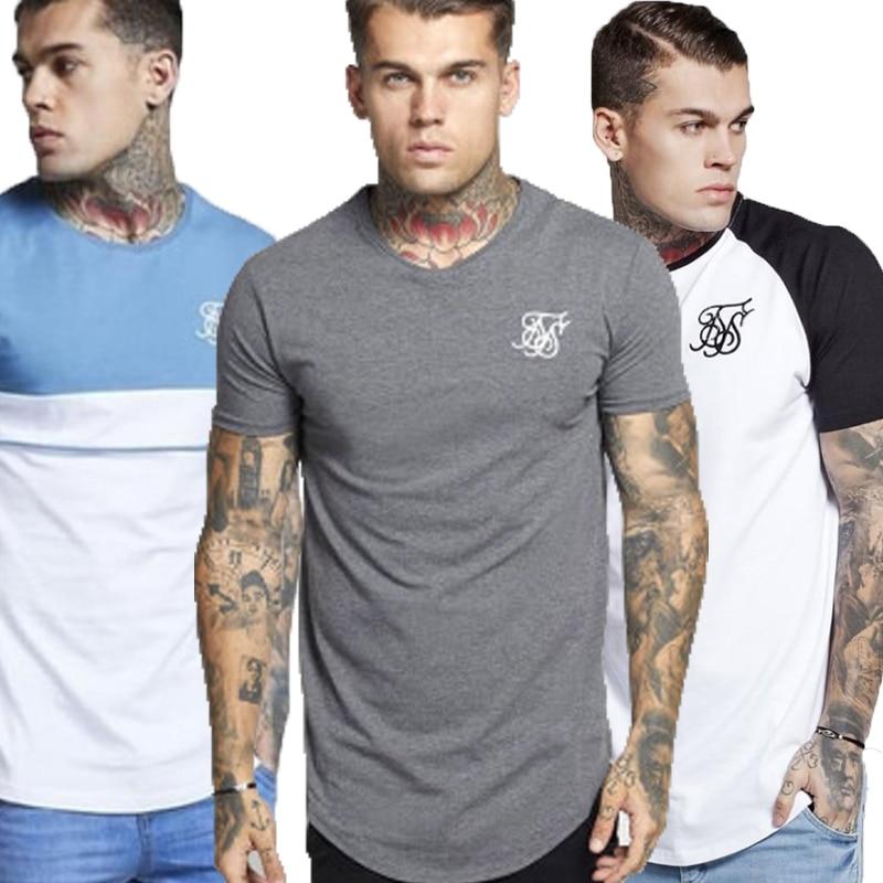 Mens T Shirt Sik Silk T-shirt Men Short Sleeve Shirt Casual Siksilk Tshirt Tee Tops Silk Silk Man Shirt