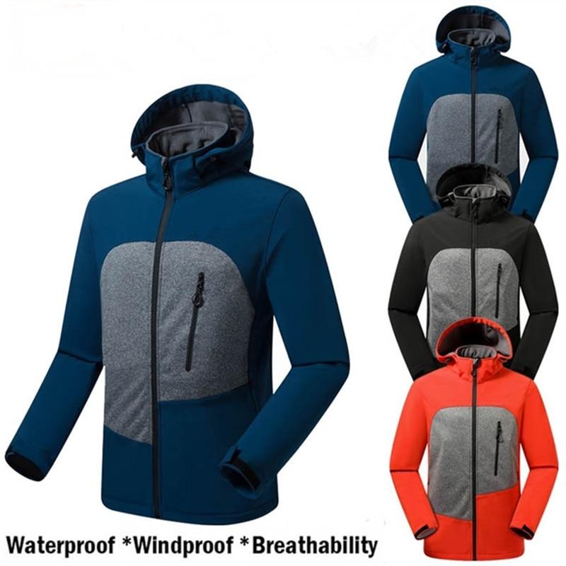 Softshell Jackets Men Waterproof Windproof Windbreaker Ski Coat Thermal Mountain Clothes Sailing Jackets For Hiking Hunting 2XL|Hiking Jackets| |  - title=
