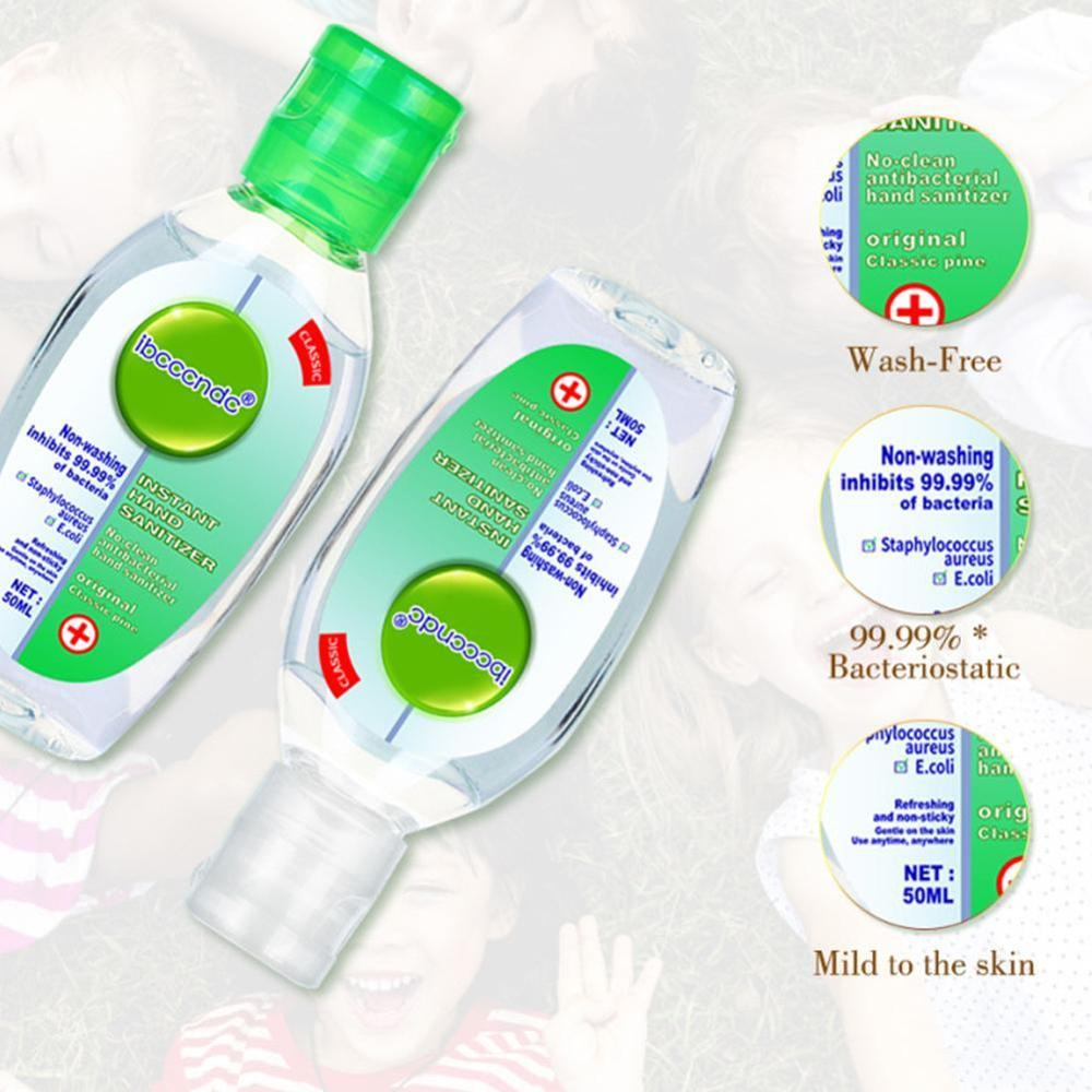 50Ml Disposable Quick-Dry Wipe Out Bacteria Hand Sanitizer Gel Travel Portable Cute Antibacterial Disposable Disinfection Gel