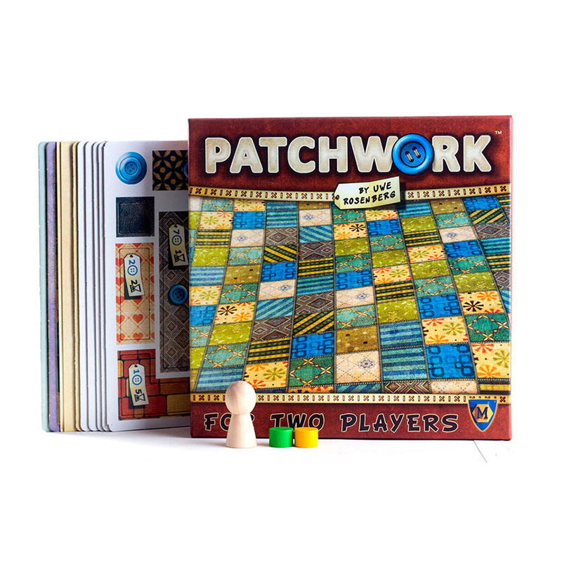 Настольные игры в стиле пэчворк для двух игроков, забавные вечерние бумажные карты, китайская/английская версия