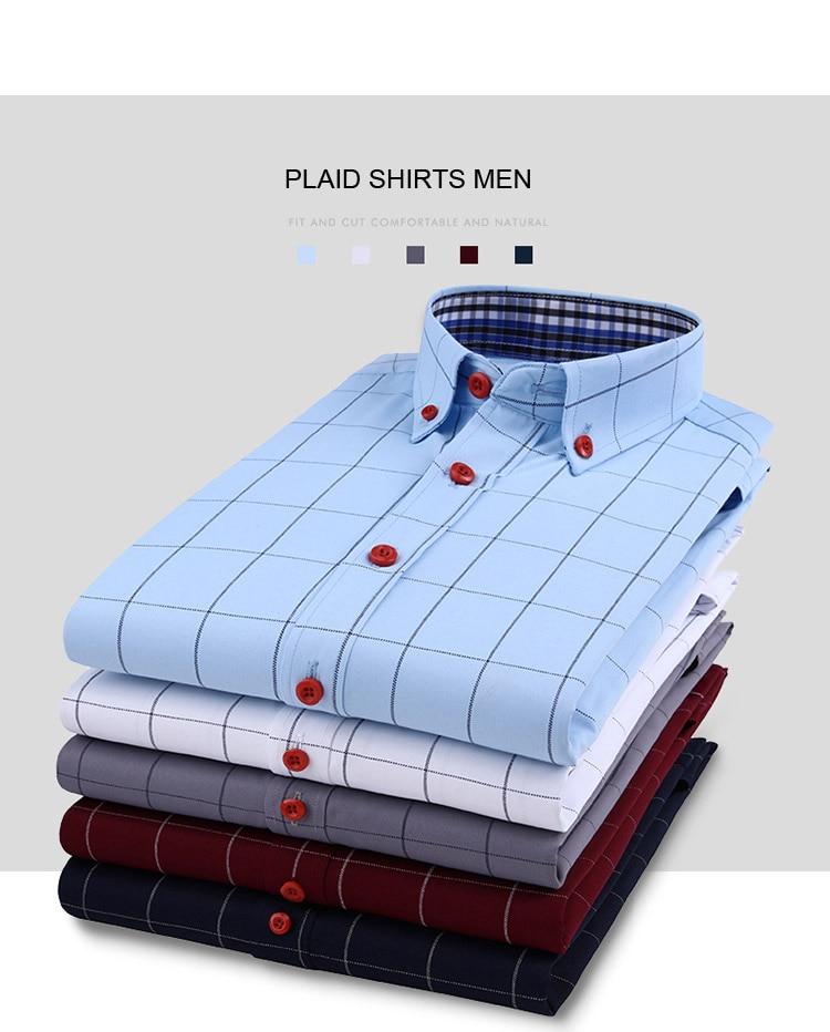 Hcd717573f6cb42ba84d29c1e5aab0cf3l Handsome Fashion Men Shirts Casual Long Sleeved Plaid Shirt Regular Fit Male Blouse 4XL 5XL