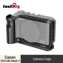SmallRig Vlog Shooting Cage for Canon EOS M6 Mark II Camera Cage With Cold Shoe Mount/Integrated Handgrip /ARRI Threadings -2515