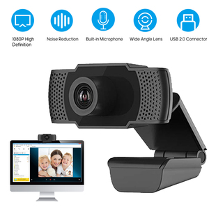 Q9 1080P High Definition Webcam with Mic USB Camera Web Cam Computer PC Cameras for Video Conference Live Streaming Chat Online