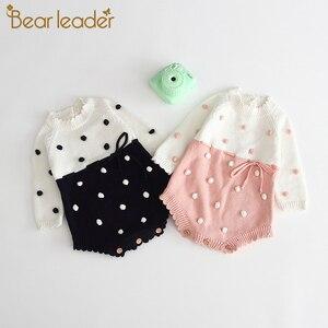 Bear Leader/комбинезоны для новорожденных девочек и мальчиков; Одежда для малышей; Вязаная одежда для маленьких девочек; Комбинезон для маленьки...