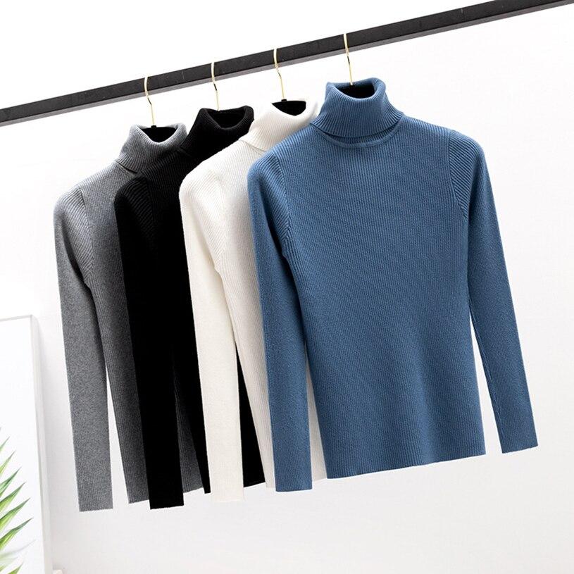 Вкус фиоритуры пуловер головы мода водолазка трикотажные свитера женщин с длинным рукавом вязать свитер женщин тонкий авокадо-зеленый осень