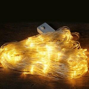 Image 5 - Luces de red LED para exteriores, 6x4M, 3x2M, 1,5x1,5 M, luz de árbol de Navidad feérico, luz de red de pesca, Decoración Para Boda o fiesta