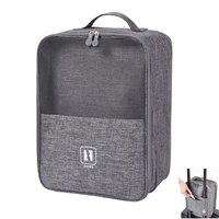 2021 schwarz Grau Tragbare Schuh Tasche für reise Wasserdichte lagerung veranstalter Mode koffer Veranstalter reisen Schuhe Lagerung Tasche