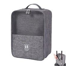 2021 Черный серый цвет переносная сумка для обуви путешествий