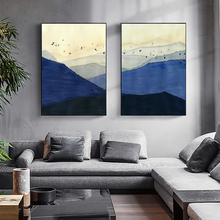 Modern Landscape Picture Poster and Print Home Decor Wall Art Canvas Painting Living Room Bedroom Office Blue Hills Decoration canvas painting primeval forest landscape wall artposter and print modern home decoration wall picture living room office decor