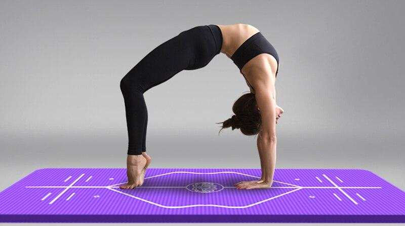 10mm Yoga Mat for Beginner with Position Line Non-slip Gym Yoga Mat Thicken Widen Men Women Yoga Exercise Dance Fitness Mat 24